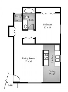1415 1bd floor plan