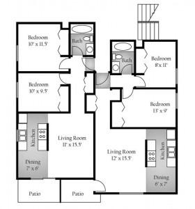 2BD Floorplan